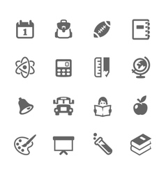 Simple Back to School Icons vector image