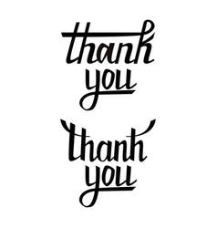 thank you postcard set hand drawn greeting card vector image vector image