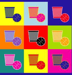 trash sign pop-art style vector image