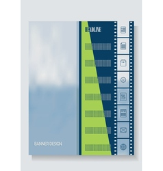 Vertical banner template leaflets brochures vector