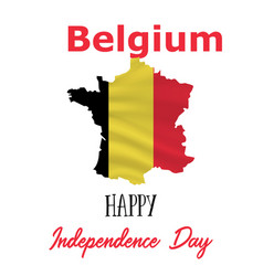 21 july belgium independence day background vector image