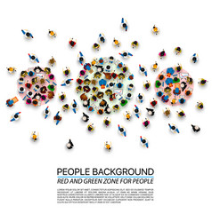A crowd of people of different zones vector