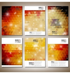 Abstract colored backgrounds triangle design vector image