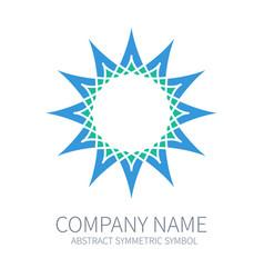 Abstract symmetry circle logo harmony polygon vector