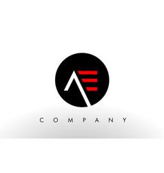 ae logo letter design vector image