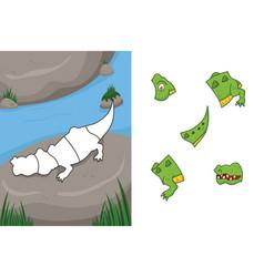 animal puzzle vector image