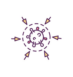 Antimicrobial resistance rgb color icon vector