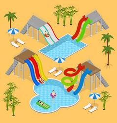 aqua park concept isometric view vector image