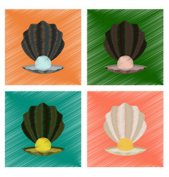 Assembly flat shading style pearl vector