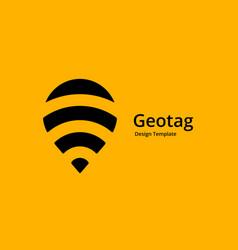 Balloon geotag or location pin logo icon design vector