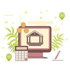 bank financing concept business money ideas vector image