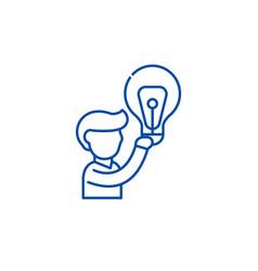 big idea line icon concept big idea flat vector image