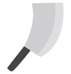 Big knife on a white background vector