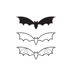 black bat icon or logo vector image