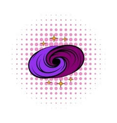 Black hole in space icon comics style vector