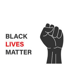 black lives matter banner design vector image