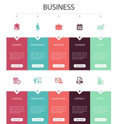 Business infographic 10 option ui design vector