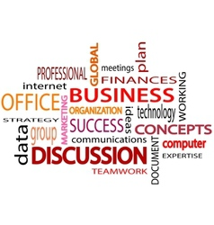 Business related words text White background vector image