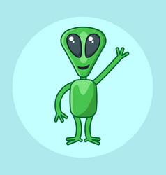 Character monster alien in vector