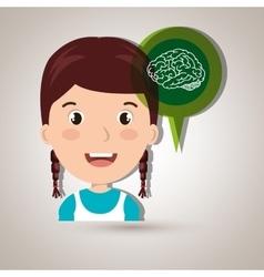 child brian idea icon vector image