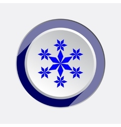 Christmas snowflake icon New year winter sale vector image