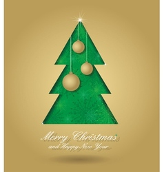 Christmas tree with balls vector