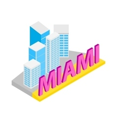 City of Miami icon isometric 3d style vector image