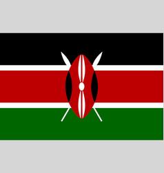 colored flag of kenya vector image