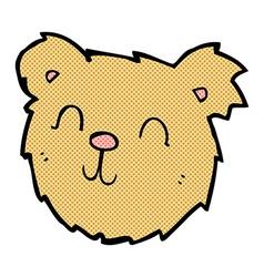 Comic cartoon happy teddy bear face vector