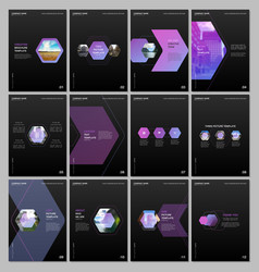 creative brochure templates with colorful vector image