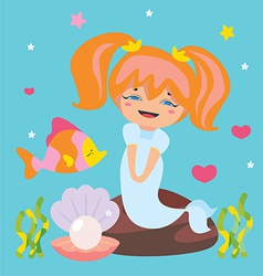 Cute Little Mermaid vector