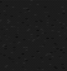 Dark brick wall background vector image