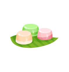 Delicious indonesian dessert sweet snacks on vector