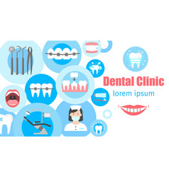 dental clinic banner vector image