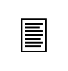 document icon black simple sign business concept vector image