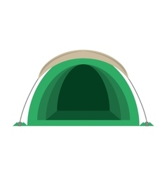 dome green tent hiking forest camping vector image