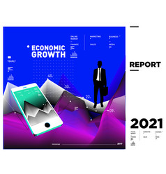 Economic financial trend and business info vector