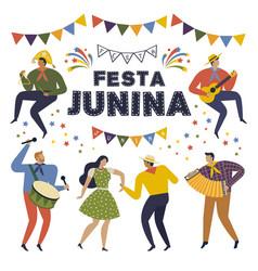 festa junina brazil june festival folklore vector image