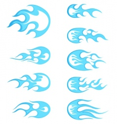 fire patterns set vector image