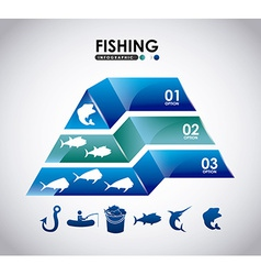 fishing infographic vector image