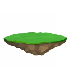 Floating island isolated vector image