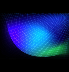 futuristic abstract blue globe background vector image