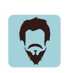 gentleman face hipster style vector image
