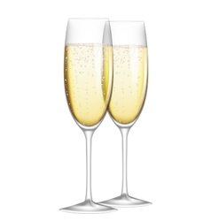 glasses champagne vector image