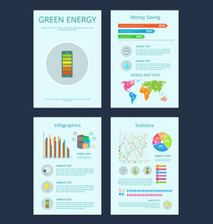 green energy and money saving vector image
