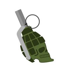 Grenade skull head skeleton military ammunition vector