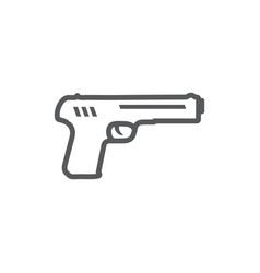 gun line icon on white background vector image