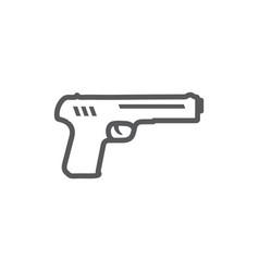 gun line icon on white background vector image