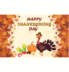 Happy thanksgiving day greeting vector