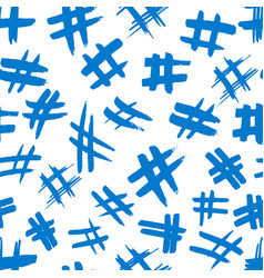 Hashtag signs number sign hash or pound sign vector